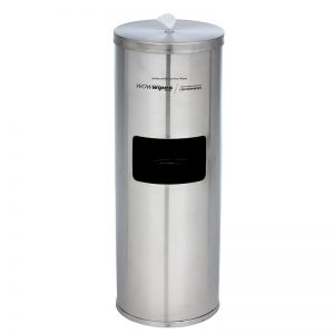 WOW Wipes® Antibacterial Wipes Dispenser + Bin – Freestanding Stainless Steel