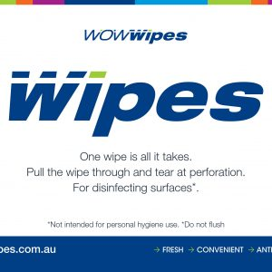 WOW Wipes® Colour Wall Sign - Free Download A4