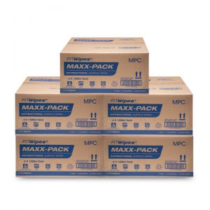 WOW Wipes® Bulk Buy 'MAXX-PACK' Antibacterial Wipes – 5 x Cartons:  2.89c Per Wipe