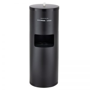 WOW Wipes® Matte Black Powder Coated Standing Dispenser